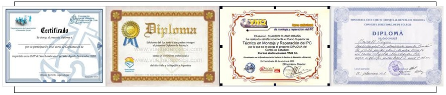 Recognized Certificates