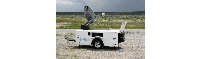Satellitenmobile Internet Trailer